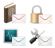 Mail Marketing Icon Set Royalty Free Stock Images