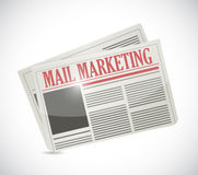 Mail marketing newspaper illustration design Royalty Free Stock Image
