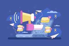 Mail marketing strategy promotion campaign royalty free illustration