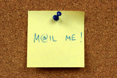 Mail me message stock photos