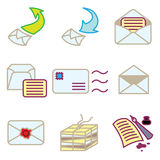 Mail and message icons. Set Royalty Free Stock Photo