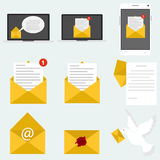 Mail, message, letter. Mail icon. Flat design, illustration stock illustration