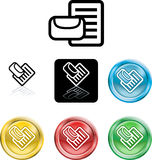 Mail or messge icon symbol Stock Photography