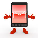 Mail / Mobile Phone / Smartphone. E-mail using a mobile phone. A simple cell phone. Many can be used conveniently. Tools that can be shared with others Stock Photo