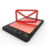 Mail / Mobile Phone / Smartphone. E-mail using a mobile phone. A simple cell phone. Many can be used conveniently. Tools that can be shared with others Royalty Free Stock Images