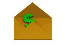 Mail with money Stock Images