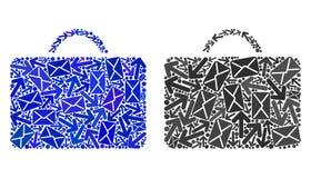 Mail Motion Mosaic Case Icons royalty free illustration