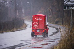 Mail must be delivered whatever the weather Stock Photography