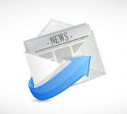 mail news illustration design Stock Photography