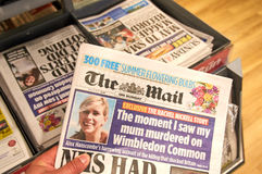 The Daily Mail newspaper. LONDON, ENGLAND - MAY 14, 2017 : The Daily Mail newspaper. The Daily Mail is a British daily middle-market tabloid newspaper owned by Stock Image