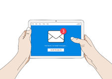 Mail notification on tablet vector illustration Stock Photo