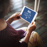 Mail Online Message Global Communications Connection Concept Royalty Free Stock Photos
