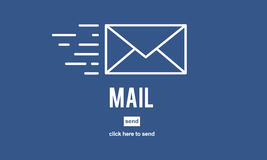 Mail Online Message Global Communications Connection Concept. Mail Online Message Global Communications Connection Royalty Free Stock Photo