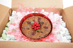 Mail Order Christmas Fruitcake Stock Photo