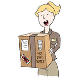 Mail Order Medication Delivery Girl Stock Photos