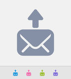 Mail Outbox - Granite Icons Royalty Free Stock Photos