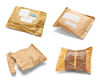 Mail package envelope box used open postal Royalty Free Stock Photography