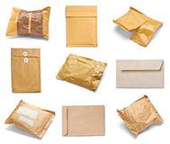 Mail package envelope box used open postal Royalty Free Stock Images