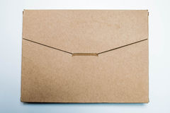 Mail package, made of recycle paper Royalty Free Stock Photography