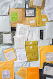Mail parcels background Stock Photography