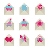 Mail party icons Stock Photography