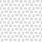 Mail pattern seamless Stock Image