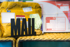Mail. Personal mail from postal service Stock Image