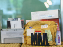 Mail. Personal mail from postal service Stock Photography