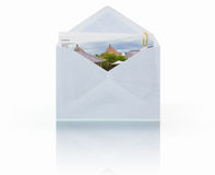 Mail with picture attachment Royalty Free Stock Image