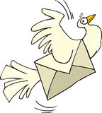 Mail pigeon. Illustration of mail carrier-pigeon Stock Photography