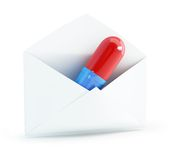 Mail pills Stock Photos