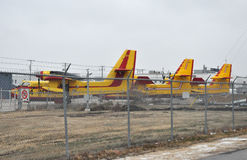 Mail plane. Photo of one of the many exhibits of the permanent exhibition. This photo was taken in Western Canada Aviation Museum. Winnipeg City, Manitoba stock photos