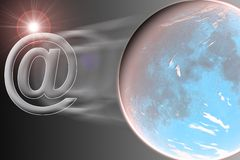 Mail planet Royalty Free Stock Images