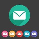 Mail post envelope icon flat web sign symbol logo Royalty Free Stock Images