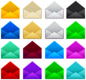 Mail postal envelope vector illustration set collection Royalty Free Stock Photography