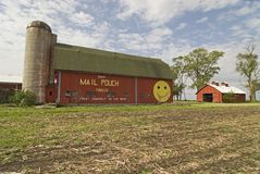 Mail pouch barn. Located south of Portage, Indiana. One of the few intact s in Indiana royalty free stock photo