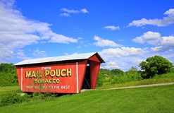 Mail Pouch Covered Bridge Stock Image