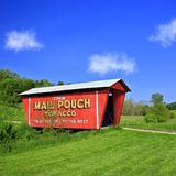 Mail Pouch Covered Bridge in Rural Ohio Stock Image