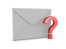Mail with Question Mark Royalty Free Stock Photography