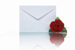 Mail and rose Stock Images