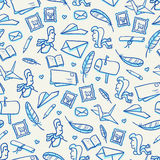 Mail seamless pattern Royalty Free Stock Photography