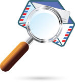 Mail search. Vector illustration of the Mail search Royalty Free Stock Photo