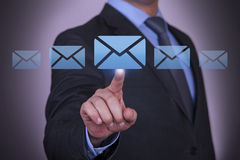 Mail Send Concept on Screen Royalty Free Stock Image