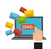 Mail send design Stock Images