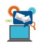 Mail send design Stock Photo