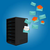 Mail server send spam emails Royalty Free Stock Photo