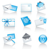 Mail service icons. Set of 9 mail service icons Stock Image