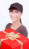 Mail service presents gifts Stock Photography