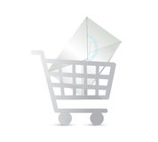Mail shopping concept illustration design Royalty Free Stock Image