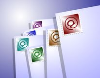 Mail with at sign Royalty Free Stock Photos